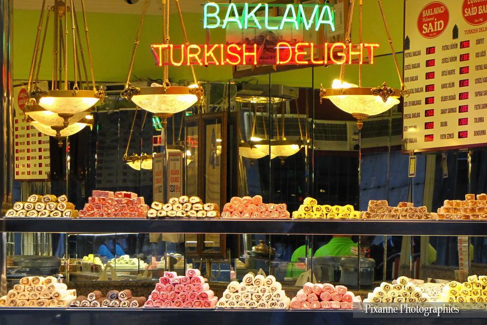 Asie, Turquie, Istanbul, Turkish Delight, Baklava, Souvenirs de Voyages, Pixanne Photographies