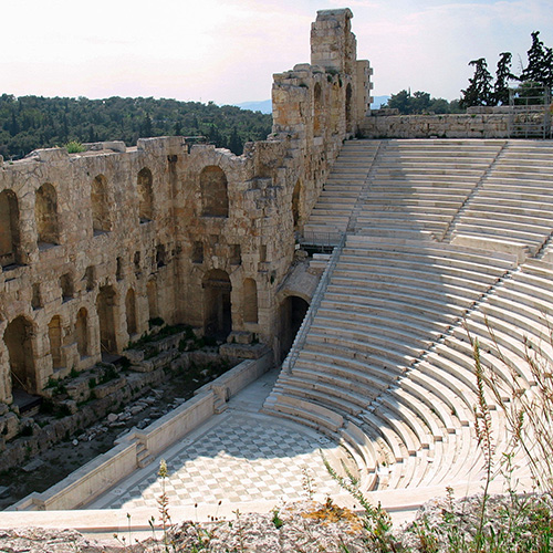 Europe, Grèce, Athènes, Acropole, Théâtre de Dionysos, Odéon d'Hérode Atticus, Souvenirs de Voyages, Pixanne Photographies
