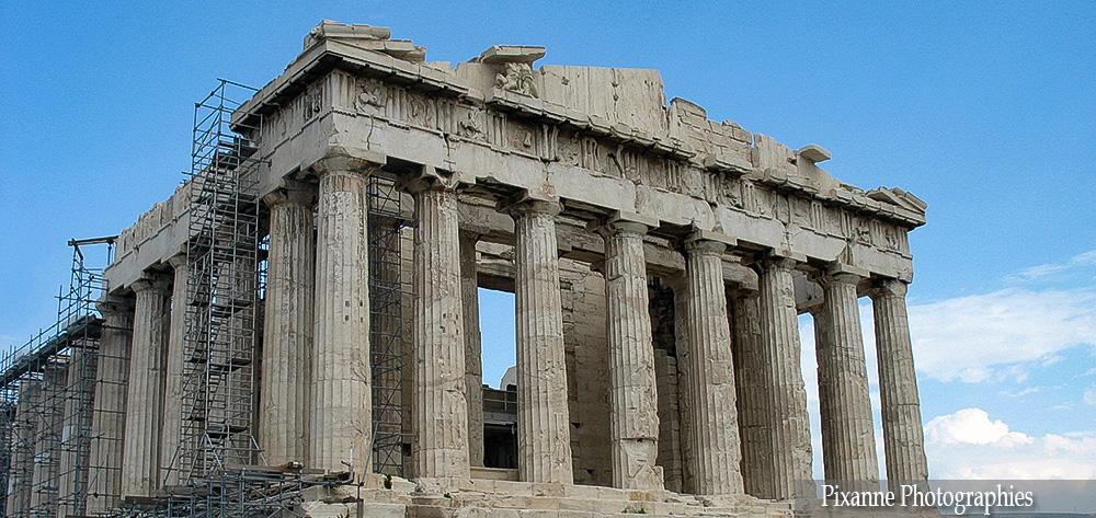 Europe, Grèce, Attique, Athènes, Acropole, Parthénon, Souvenirs de Voyages, Pixanne Photographies