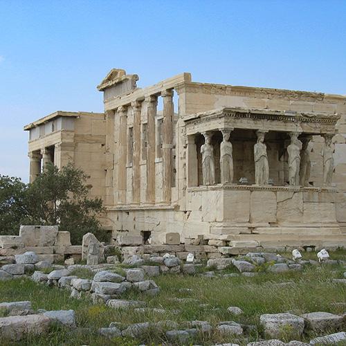 Europe, Grèce, Attique, Athènes, Acropole, Érechthéion, caryatides , Souvenirs de Voyages, Pixanne Photographies
