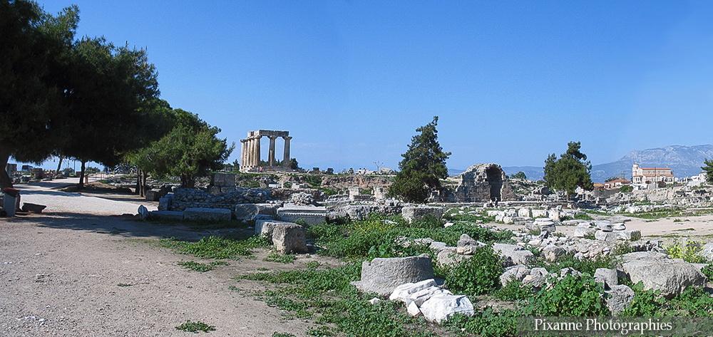 Europe, Grèce, Péloponnèse, Ancienne Corinthe, Souvenirs de Voyages, Pixanne Photographies