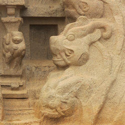 Asie, Inde du Sud, Tamil Nadu, Mahabalipuram, Tiger Cave, Souvenirs de Voyages, Pixanne Photographies