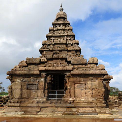 Asie, Inde du Sud, Tamil Nadu, Mahabilipuram, Shore Temple, Temple du Rivage, Souvenirs de Voyages, Pixanne Photographies