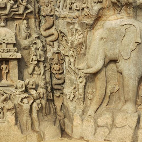 Asie, Inde du Sud, Tamil Nadu, Mahabalipuram, Descente du Gange, Souvenirs de Voyages, Pixanne Photographies