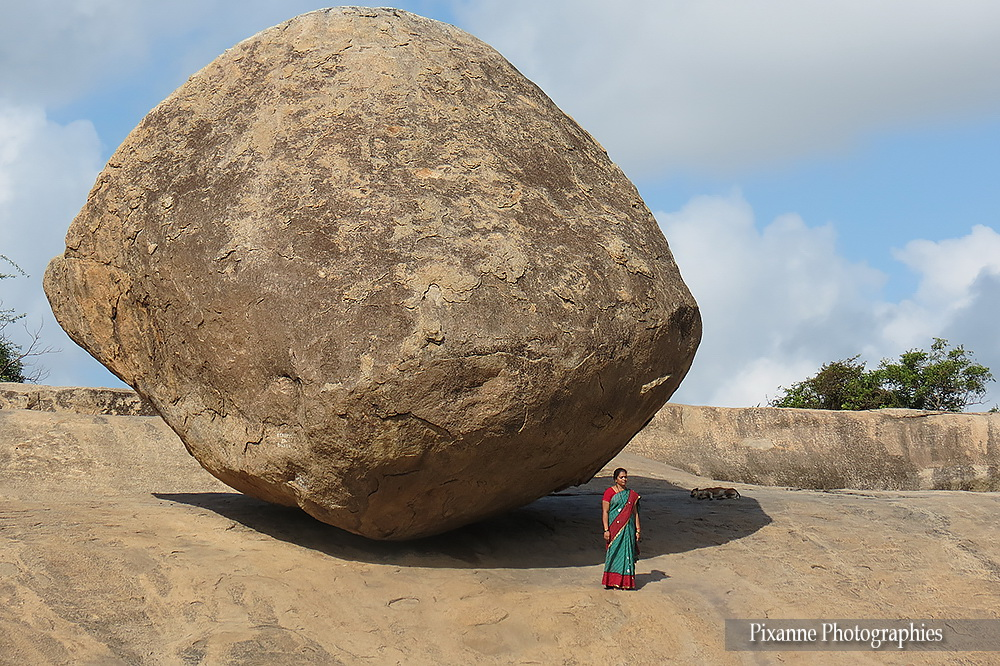 Asie, Inde du Sud, Tamil Nadu, Mahabalipuram, Krishna's Butter Ball, Souvenirs de Voyages, Pixanne Photographies