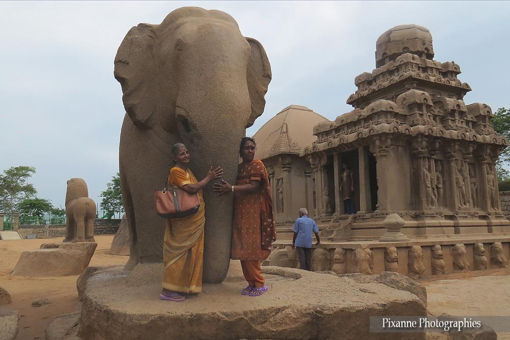 Asie, Inde du Sud, Tamil Nadu, Mahabalipuram, Shore Temple, Temple du rivage, Souvenirs de Voyages, Pixanne Photographies