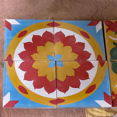 Asie, Inde du Sud, Tamil Nadu, Chettinad, Athangudi, Athangudi Tiles, Souvenirs de Voyages, Pixanne Photographies