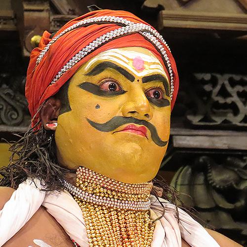 Asie, Inde du Sud, Kerala, Fort Kochi, Cochin, Kathakali, Keechaka Vadham, Souvenirs de Voyages, Pixanne Photographies