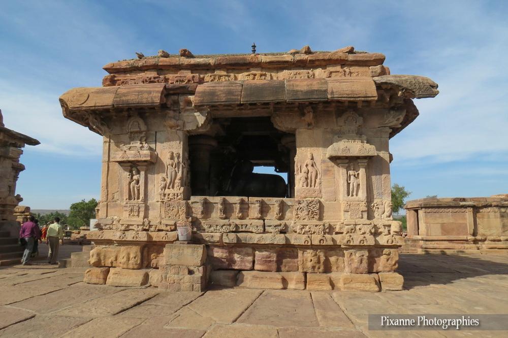 Asie, Inde du Sud, Karnataka, Pattadakal, Complexe sacré, Virupaksha Temple, Pavillon du Nandi, Souvenirs de Voyages, Pixanne Photographies