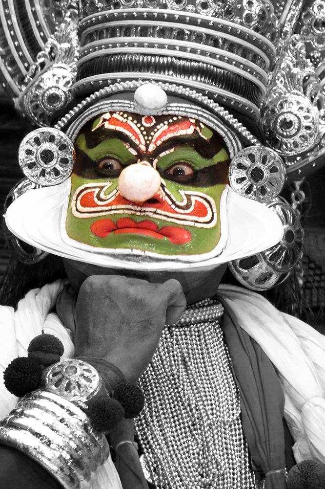 Asie, Inde du Sud, Kerala, Fort Cochin, Cochin, Kathakali, Souvenirs de Voyages, Pixanne Photographies