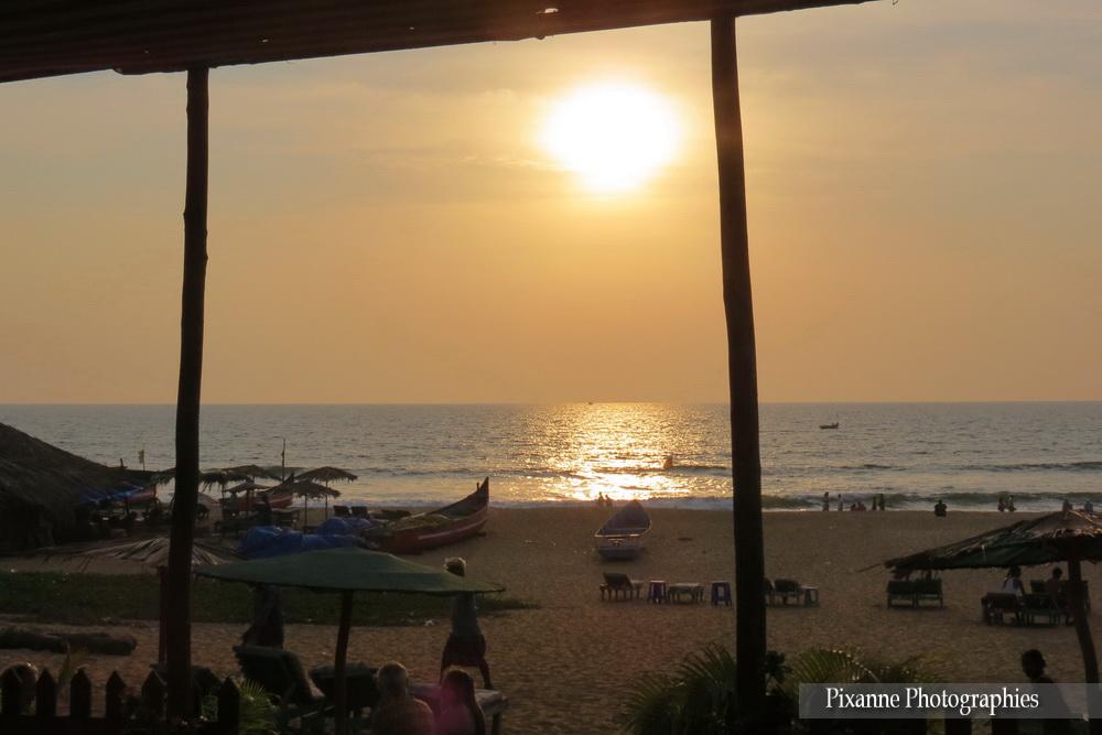 Asie, Inde du Sud, Karnataka, Goa, plage, coucher de soleil, Souvenirs de Voyages, Pixanne Photographies