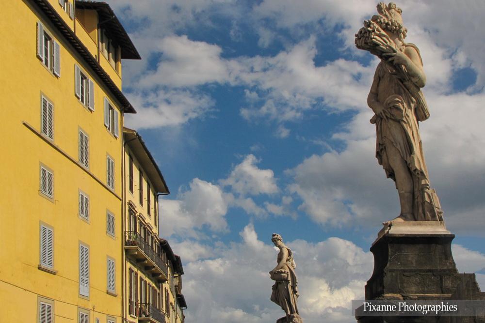 Europe, Italie, Florence, Ponte Santa Trinita, Liberté, Souvenirs de Voyages, Pixanne Photographies