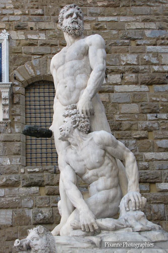 Europe, Italie, Florence, Piazza della Signoria, Hercule et Cacus, Baccio Bandinelli, Souvenirs de Voyages, Pixanne Photographies