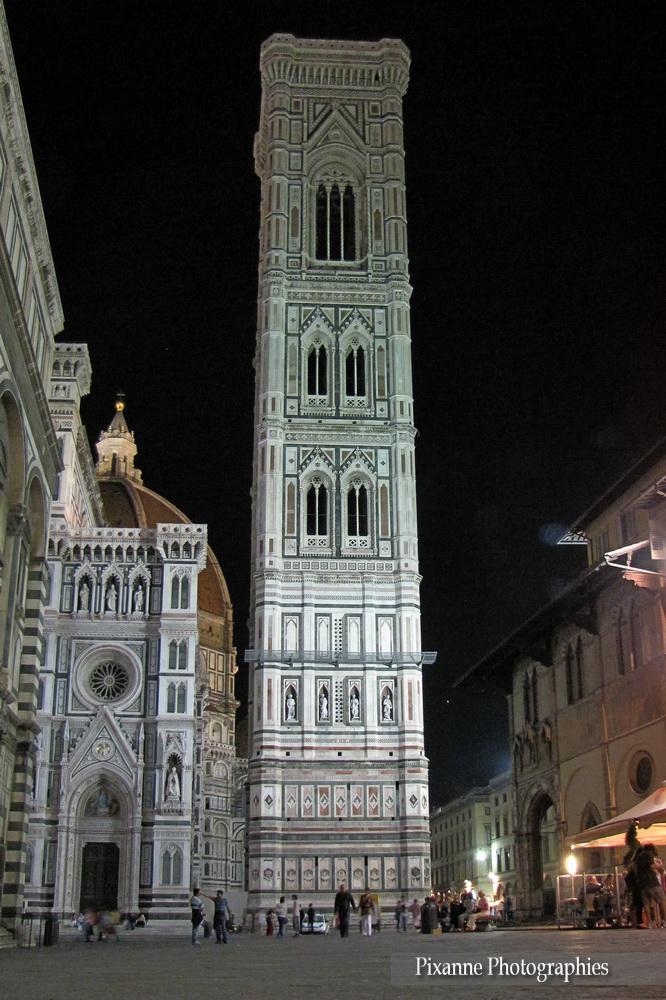 Europe, Italie, Florence, Piazza del Duomo, Campanile de Giotto, Souvenirs de Voyages, Pixanne Photographies
