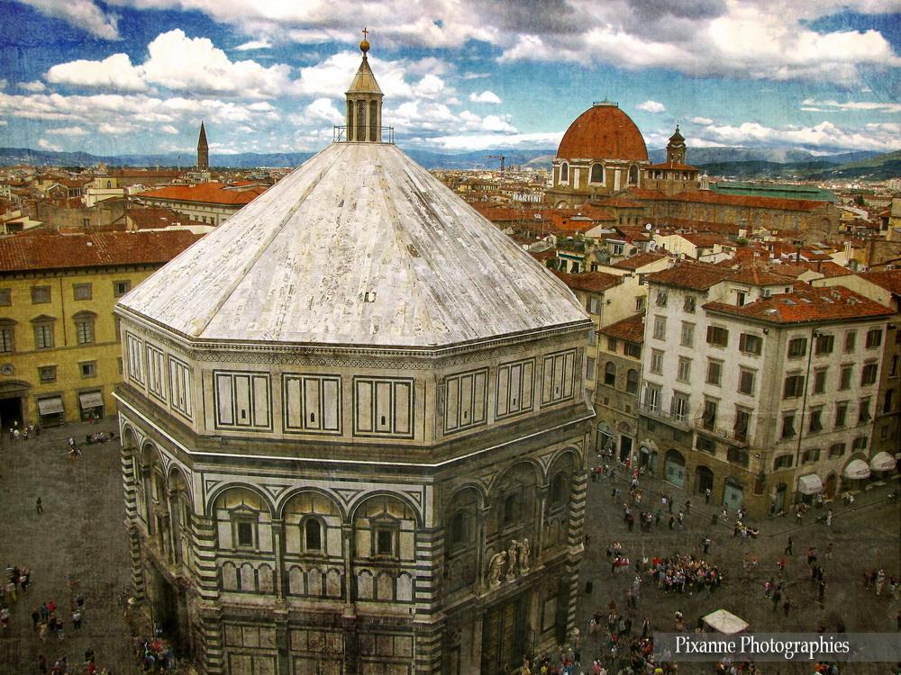 Europe, Italie, Florence, Campanile di Giotto, Baptistère Saint Jean, Souvenirs de Voyages, Pixanne Photographies