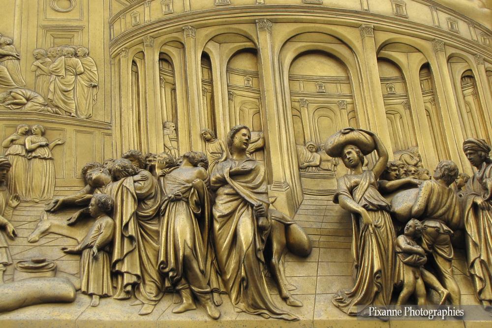 Europe, Italie, Florence, Baptistère Saint Jean, Porte du Paradis, Souvenirs de Voyages, Pixanne Photographies