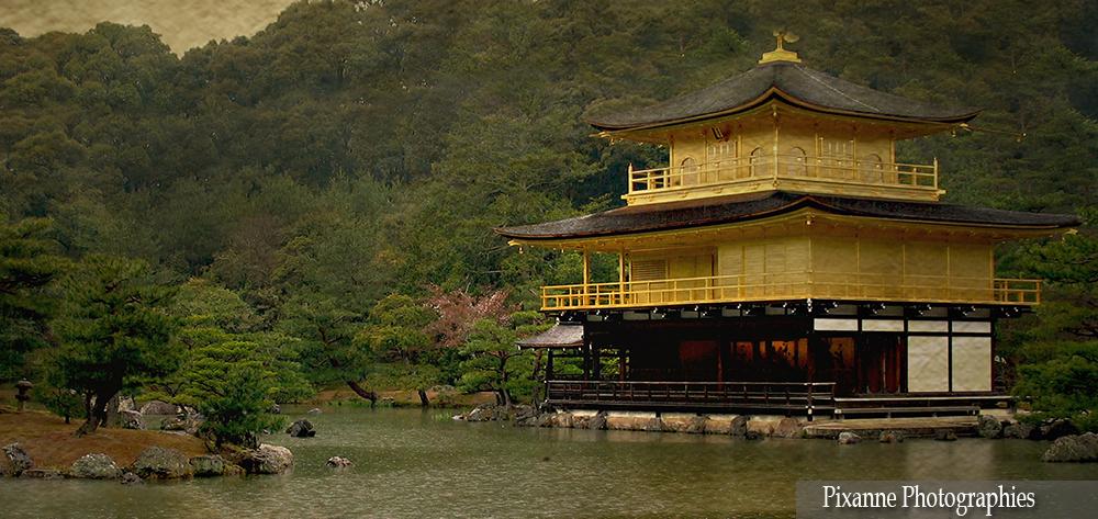 Asie, Japon, Kyoto, Kinkaku Ji, Pavillon d'Or, Souvenirs de Voyages, Pixanne Photographies
