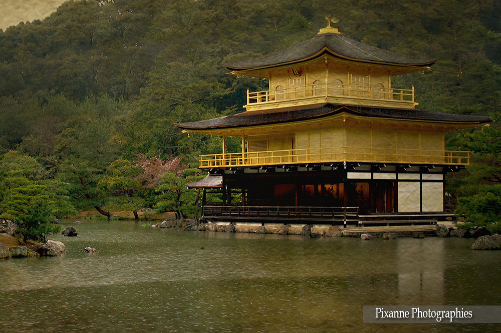 Asie, Japon, Kyoto, Kinkaku Ji, Pavillon d'Or, Souvenirs de Voyages,  Pixanne Photogrpahies