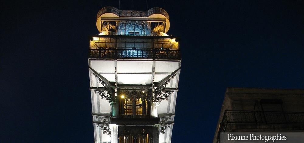 Europe, Portugal, Lisbonne, Ascenseur Santa Justa, Elevador Santa Justa, souvenirs de voyages, pixanne photographies