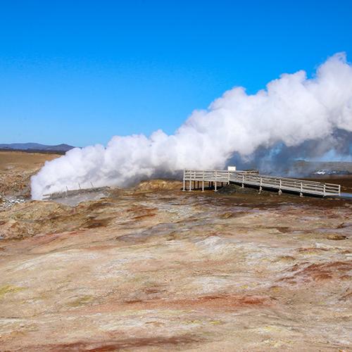 Europe, Islande, Iceland, Péninsule de Reykjanes, Site géothermique de Gunnuhver, Gunnuhver Hot Springs, Souvenirs de Voyages, Pixanne Photographies