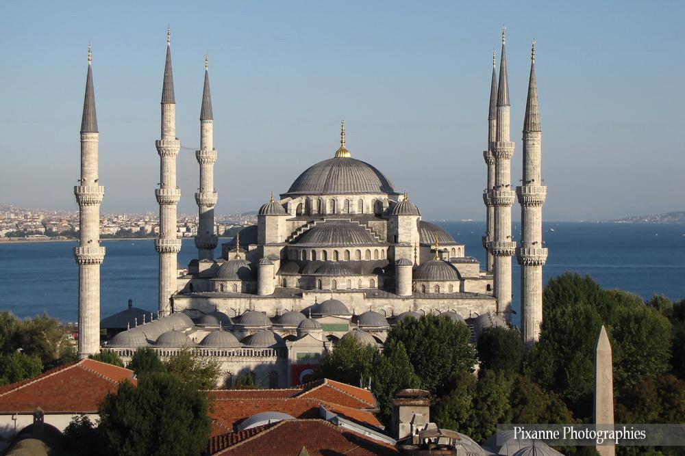 Asie, Turquie, Istanbul, Mosquée Bleue, mosquée du sultan Ahmet, Souvenirs de Voyages, Pixanne Photographies