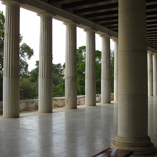Europe, Grèce, Attique, Athènes, Ancienne Agora, Stoa d'Attale, Souvenirs de Voyages, Pixanne Photographies