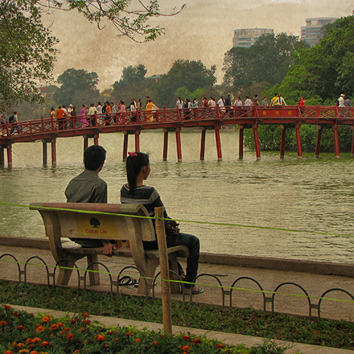 Asie, Vietnam, Hanoï, Lac Hoan Kiem, Souvenirs de Voyages, Pixanne Photographies
