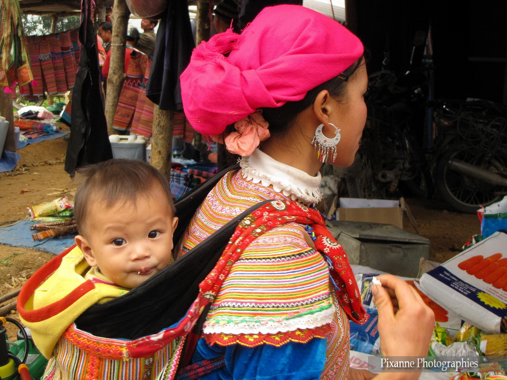 Asie, Vietnam, Coc Ly, Hmong Fleur, Souvenirs de Voyages, Pixanne Photographies