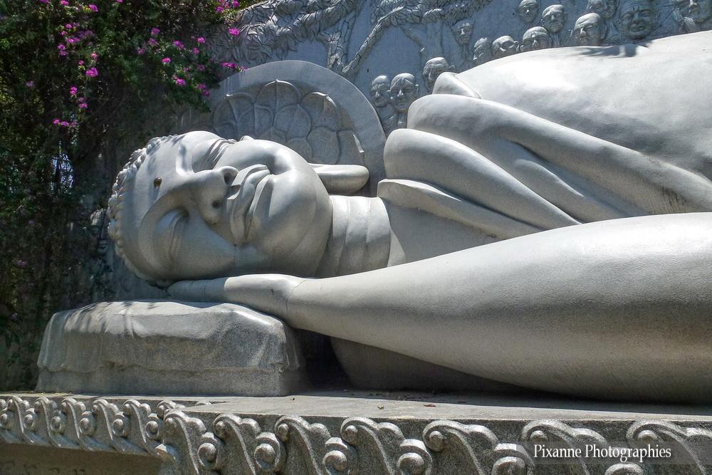 Asie, Vietnam, Nha Trang, Pagode Long Son, Boudhha couché, Souvenirs de Voyages, Pixanne Photographies