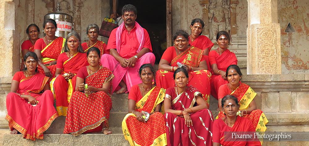 Asie, Inde du Sud, Tamil Nadu, Thanjavur, Tanjore, Brihadishvara Temple, Pélerins, Souvenirs de Voyages, Pixanne Photographies