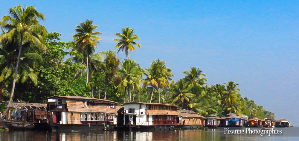 Asie, Inde du Sud, Kerala, Backwaters, Houseboats, Souvenirs de Voyages, Pixanne Photographies